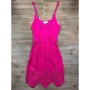 Umgee Crochet Hem Mini Dress